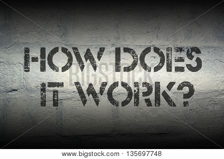 how does it work question stencil print on the grunge white brick wall