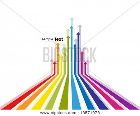 Colored arrows vector poster