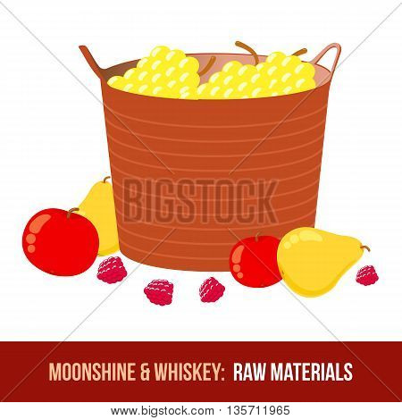 Moonshine And Whiskey. Harvest Raw Materials
