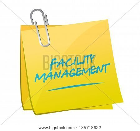 Facility Management Memo Post Sign
