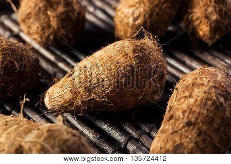 Raw Organic Brown Eddoes