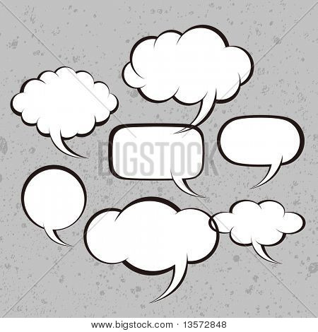 Vector illustration. Bubbles for speech