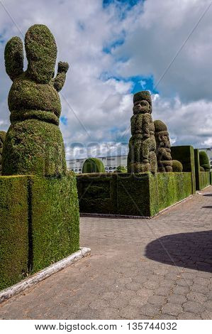 Tulcan Is Known For The Most Elaborate Topiary In The New World Ecuador South America The Second In The World