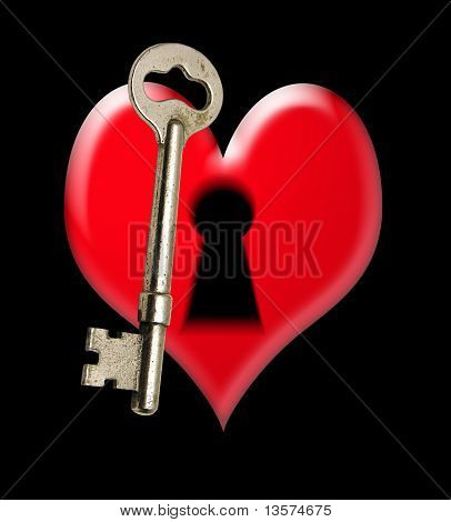 An illustration of a key to one's heart poster