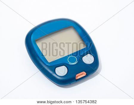 device for measuring blood sugar level isolated on white background