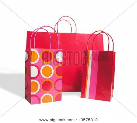 A photo of brightly colored shopping bags