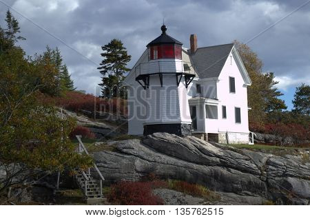 Perkins Island Lighthouse, Bar Harbor Maine USA