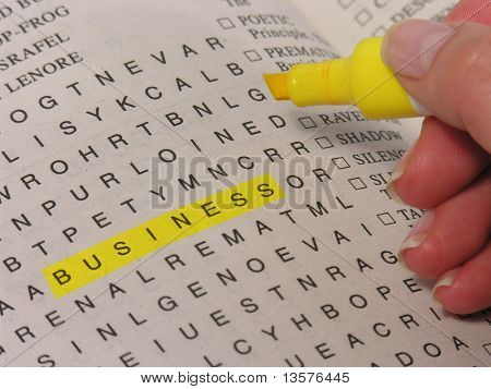 Business found in a word puzzle