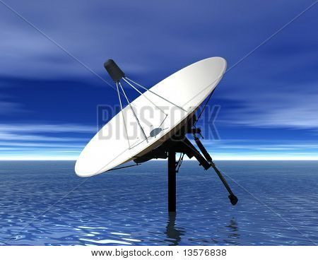 A photo of a satellite dish