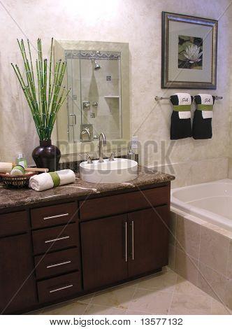 A photo of a bathroom