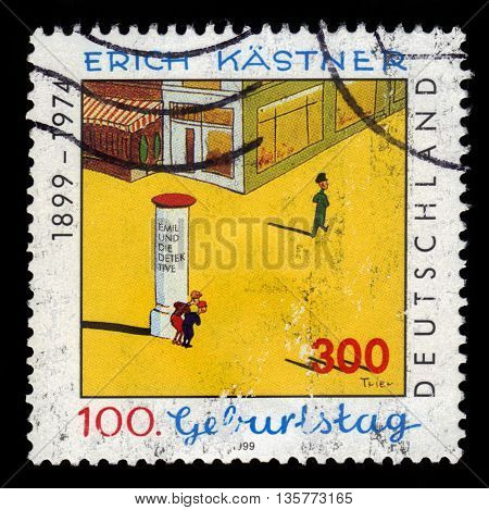 GERMANY - CIRCA 1999: a stamp printed in the Germany  shows illustration by Walter Trier to