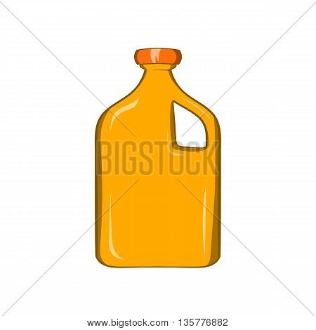 Packaging for engine oil icon in cartoon style isolated on white background. Production and packaging symbol