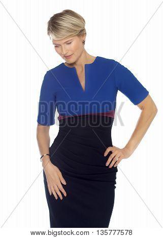 Elegant Woman In Dress