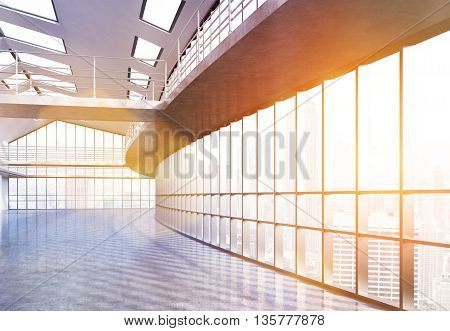 Empty Interior With Sunlight