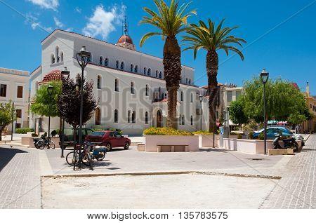 Rethymnon CRETE-JULY 23: Megalos Antonios church on July 23 2014 in Rethymnon city on the Crete island Greece.