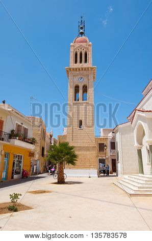 RETHYMNON CRETE - JULY 23: Megalos Antonios church on July 23 2014 in Rethymnon city on the Crete island Greece.