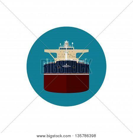 Icon tanker or tank ship or tankship, a merchant vessel designed to transport liquids
