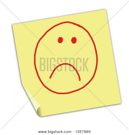 Note With Unhappy Face
