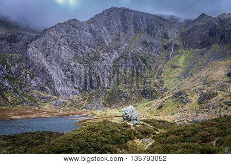 Glyder Fawr overlooking Llyn Idwal, Ogwen Valley, Snowdonia
