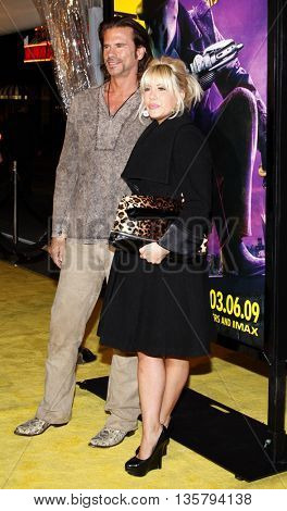Lorenzo Lamas and daughter Shayne Lamas at the Los Angeles premiere of 'Watchmen' held at the Grauman's Chinese Theater in Hollywood, USA on March 3, 2009.