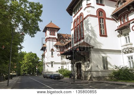 Sinaia, ROMANIA - June 18 2016: Caraiman Hotel in the mountain resort Sinaia. SINAIA - June 18 2016