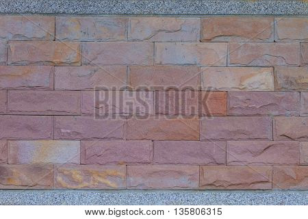 Textured Of Stone Wall