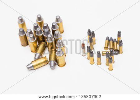 Big .45Acp And Small .22Lr Bullet