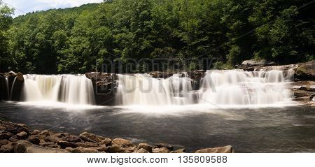 Three Distinct Waterfalls At High Falls Of Cheat