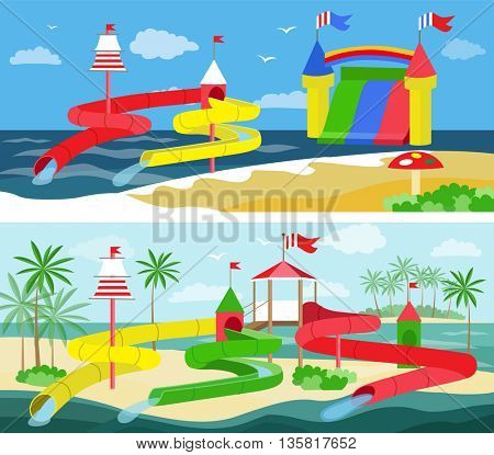 aqua park (vector illustration)