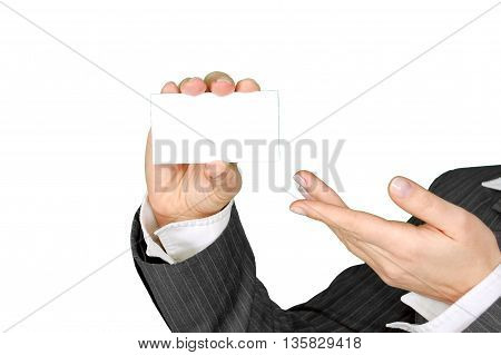 a businessman who presents it in a nice way that business advantages or disadvantages plan