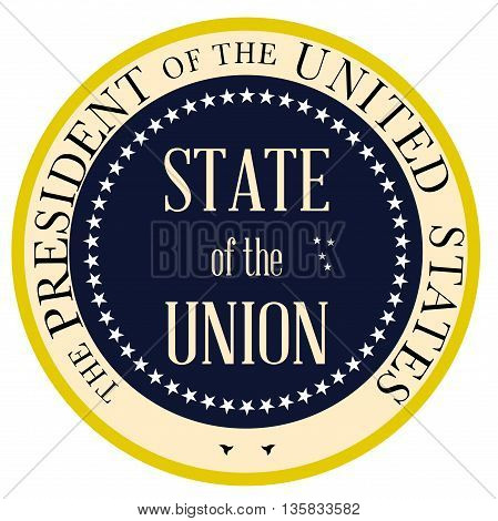 State of the Union button based upon the presidential seal of the United States of America