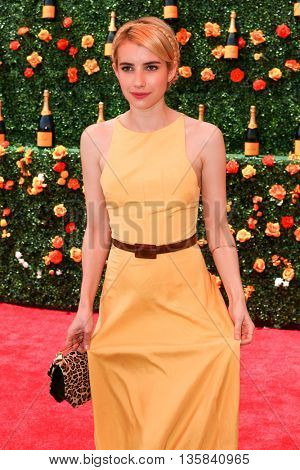 JERSEY CITY, NJ - MAY 30: Actress Emma Roberts attends the 8th Annual Veuve Clicquot Polo Classic at Liberty State Park on May 30, 2015 in Jersey  City, New Jersey.