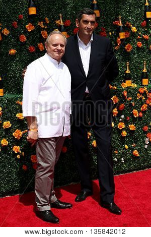 JERSEY CITY, NJ - MAY 30: Chef Joel Robuchon (L) and  Laurent Boidevezi attend the 8th Annual Veuve Clicquot Polo Classic at Liberty State Park on May 30, 2015 in Jersey  City, New Jersey.