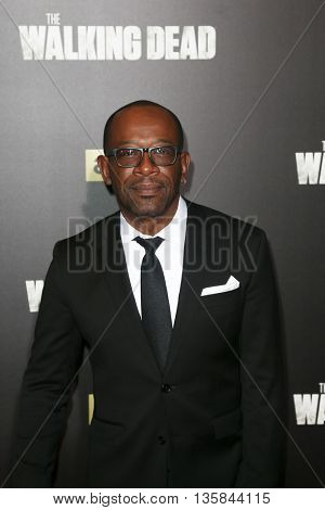 NEW YORK-OCT 9: Actor Lennie James attends AMC's 'The Walking Dead' season six premiere at Madison Square Garden on October 9, 2015 in New York City.