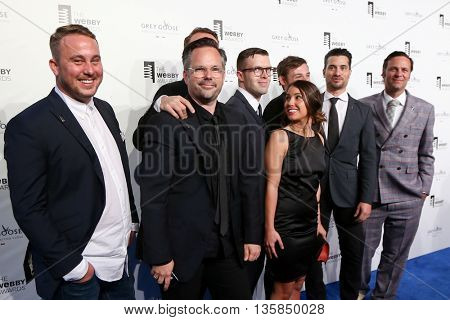 NEW YORK, NY - MAY 18: Representatives from Airbnb attend the 19th Annual Webby Awards at Cipriani Wall Street on May 18, 2015 in New York City.