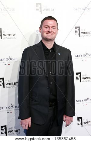 NEW YORK, NY - MAY 18: Co-founder of the ALS Ice Bucket Challenge Patt Quinn attends the 19th Annual Webby Awards at Cipriani Wall Street on May 18, 2015 in New York City.
