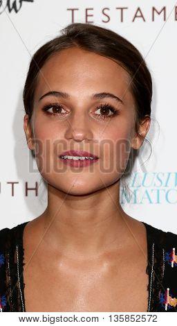 NEW YORK, NY-JUNE 2: Actress Alicia Vikander attends the