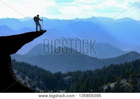 extraordinary summit success. mountaineering activities..summit success.step summit.