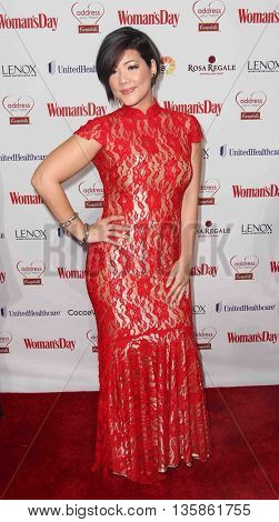 NEW YORK-FEB 10, 2015: Singer Tessanne Chin attends the 12th Annual Woman's Day Red Dress Awards at Jazz at Lincoln Center on February 10, 2015 in New York City.