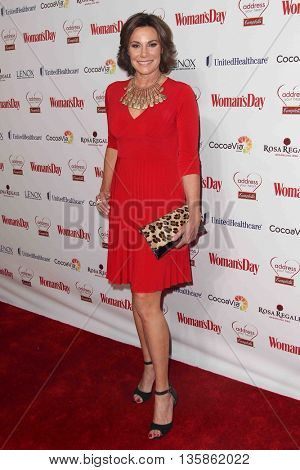 NEW YORK-FEB 10, 2015: TV personality Countess LuAnn de Lesseps attends the 12th Annual Woman's Day Red Dress Awards at Jazz at Lincoln Center on February 10, 2015 in New York City.