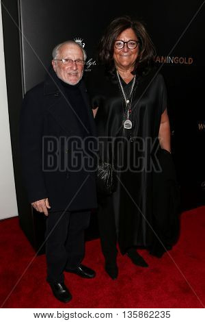 NEW YORK-MAR 30:  Fern Mallis (R) and guest attend the