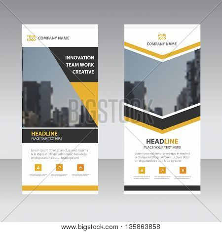 Business Roll Up Banner flat design template Abstract Geometric banner template Vector illustration set abstract presentation template