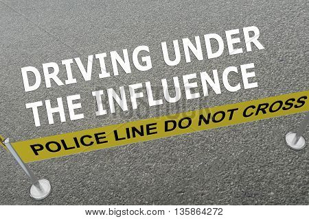 Driving Under The Influence Police Concept