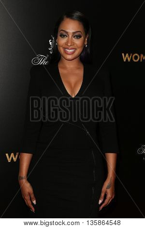 NEW YORK-MAR 30: TV personality La La Anthony attends the
