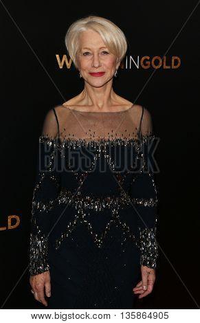 NEW YORK-MAR 30: Actress Helen Mirren attends the