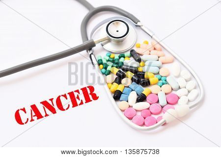 Various of drugs for cancer treatment, medical concept