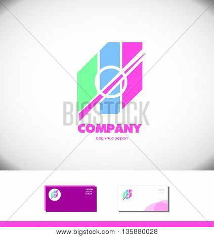 Vector company logo icon element template pastel colors abstract circle