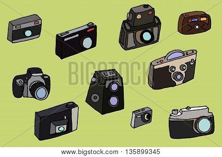 Photo Cameras Set