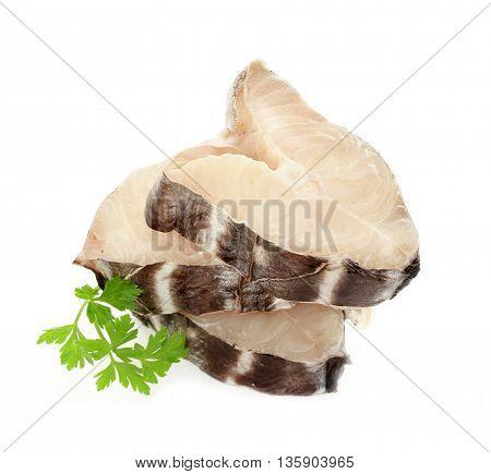 Fish chimera (sea rabbit sea rat) isolated on white background