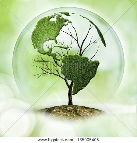 Earth tree abstract eco backgrounds with copy space for your design